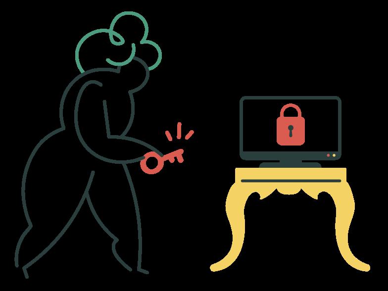 Unlocking  Clipart illustration in PNG, SVG