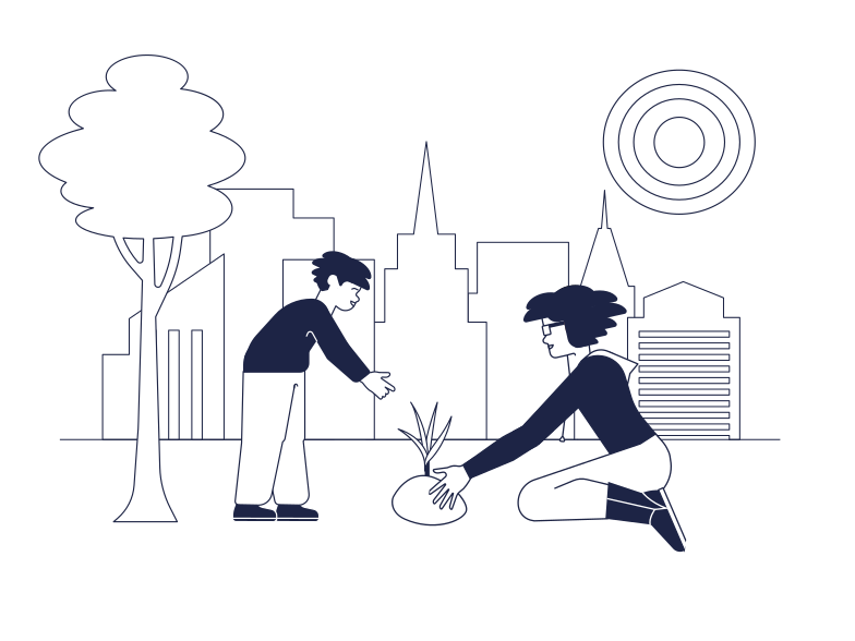 Ecology Lesson In The City Clipart illustration in PNG, SVG