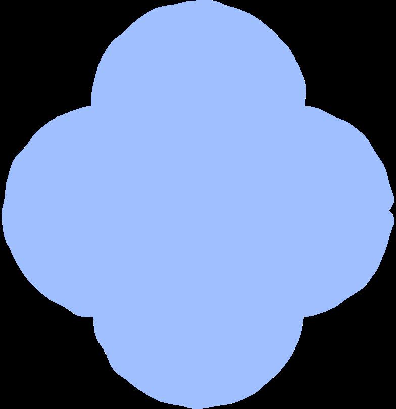 quatrefoil light blue Clipart illustration in PNG, SVG