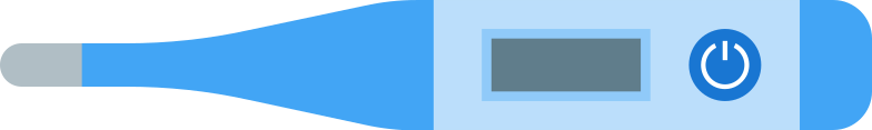 digital medical thermometer Clipart illustration in PNG, SVG
