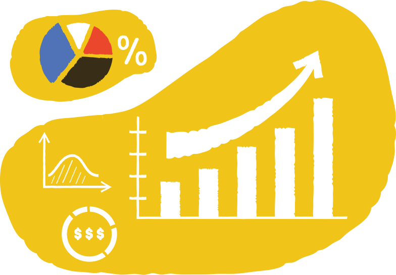 growing charts Clipart illustration in PNG, SVG