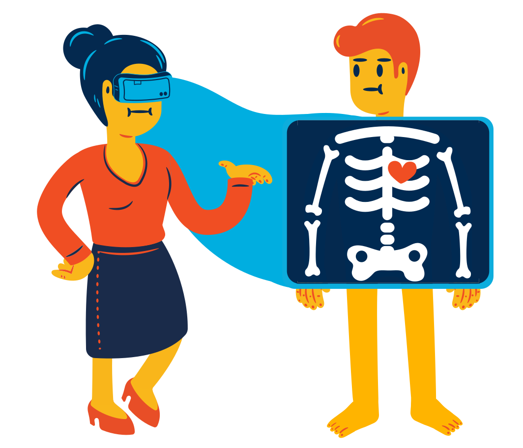VR x-ray Clipart illustration in PNG, SVG