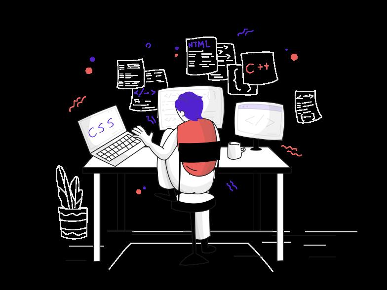 Web development Clipart illustration in PNG, SVG