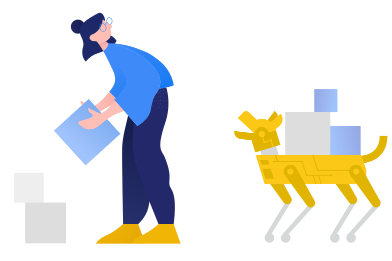 Robot assistant Clipart illustration in PNG, SVG