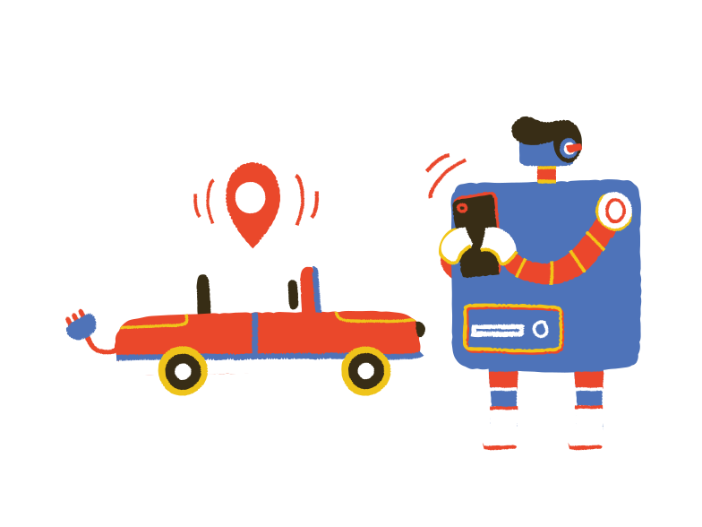 Where is my car Clipart illustration in PNG, SVG