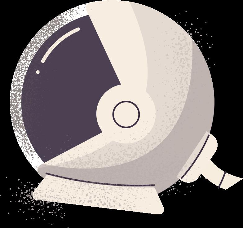 astronaut helmet Clipart illustration in PNG, SVG