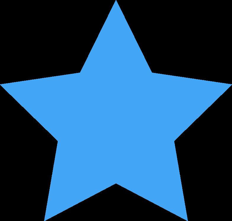 star blue Clipart illustration in PNG, SVG