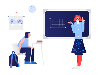 style Schoolteacher teaches pupil images in PNG and SVG   Icons8 Illustrations