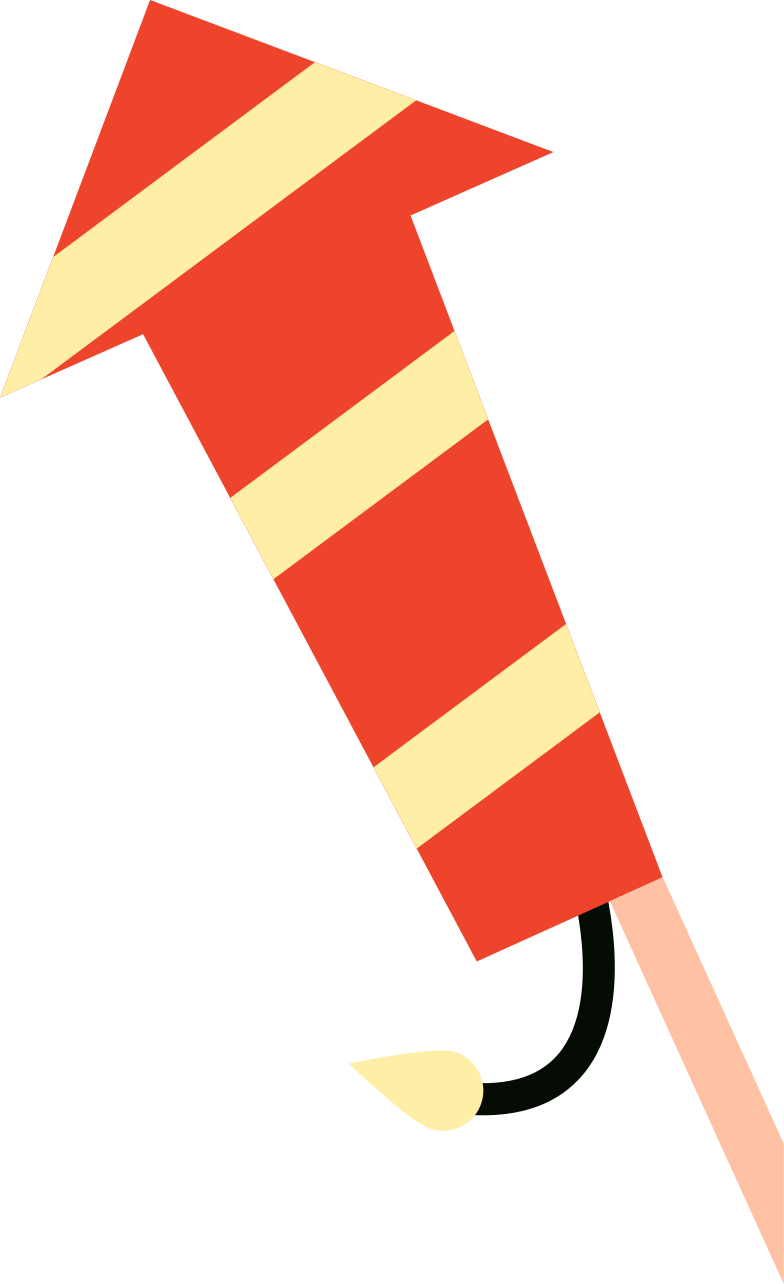rocket fireworks Clipart illustration in PNG, SVG