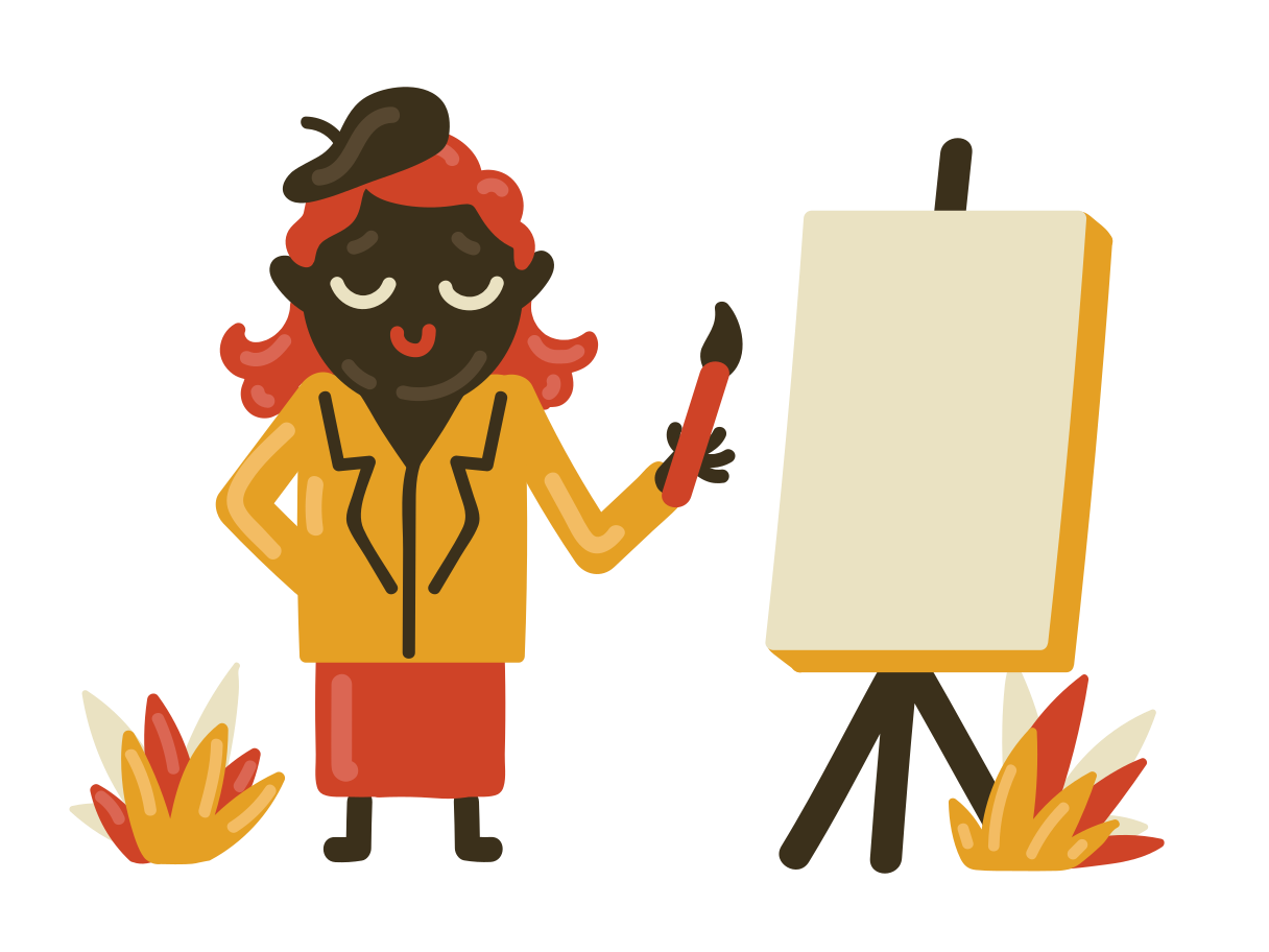 Painter Clipart illustration in PNG, SVG