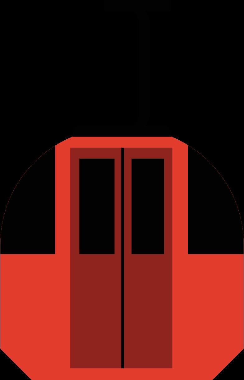 ski lift cabin Clipart illustration in PNG, SVG