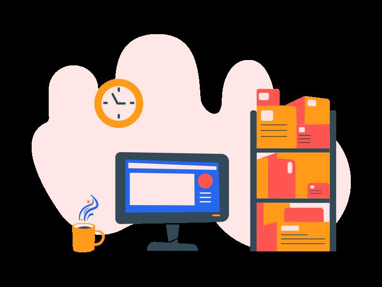 Office room Clipart illustration in PNG, SVG