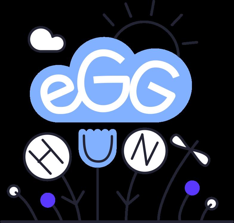 egg hunt Clipart illustration in PNG, SVG