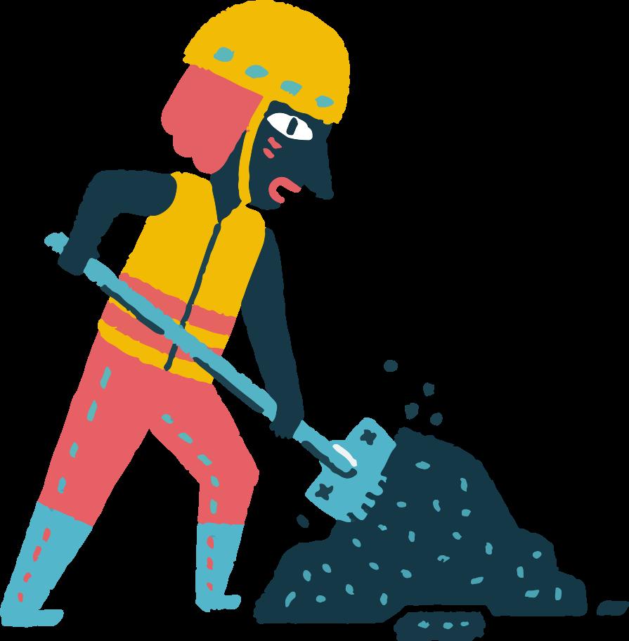 digging Clipart illustration in PNG, SVG