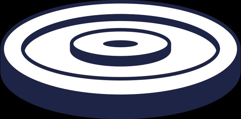 disc for barbell 3 line Clipart illustration in PNG, SVG