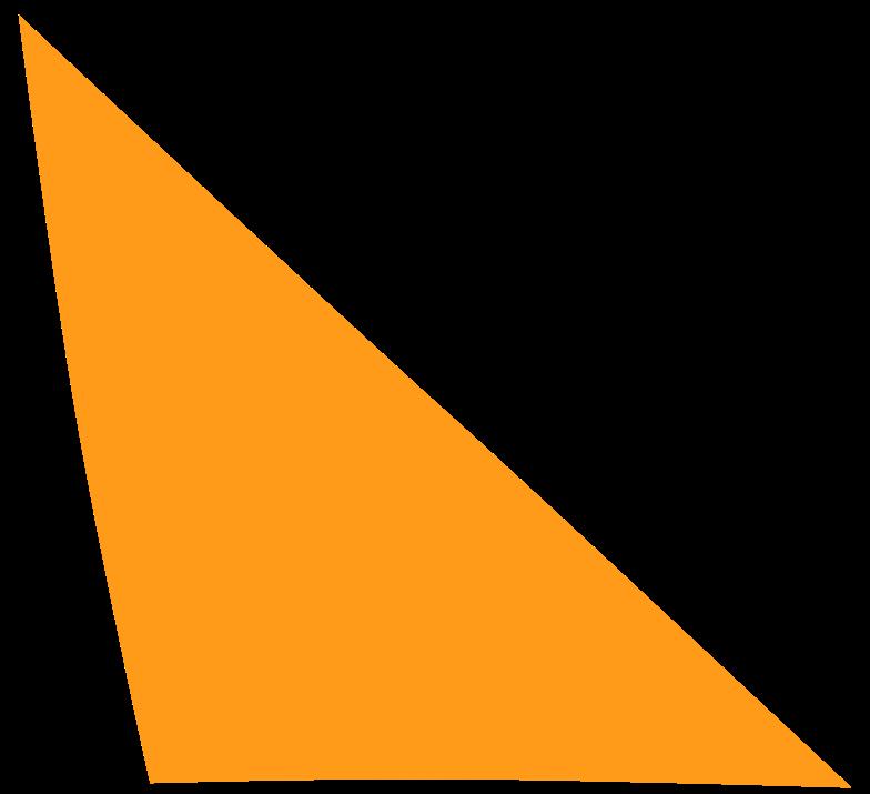 Ilustración de clipart de scalene yellow en PNG, SVG