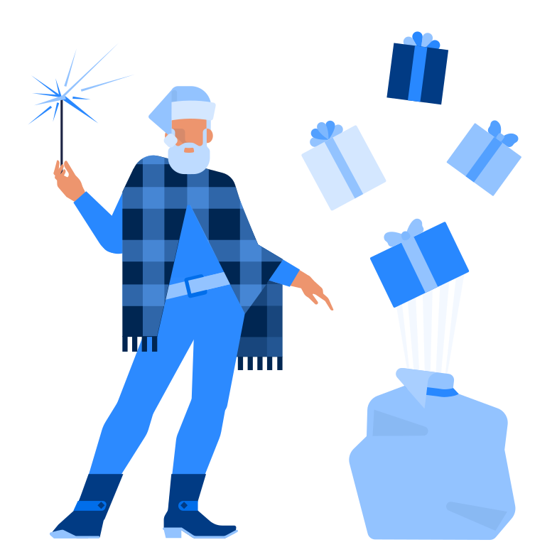 style Santa with presents Vector images in PNG and SVG | Icons8 Illustrations