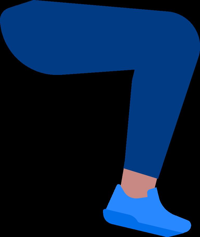man leg Clipart illustration in PNG, SVG