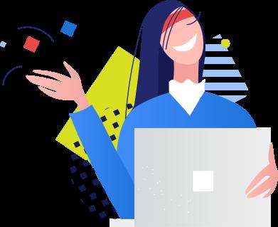 Иллюстрация woman with laptop в стиле  в PNG и SVG | Icons8 Иллюстрации