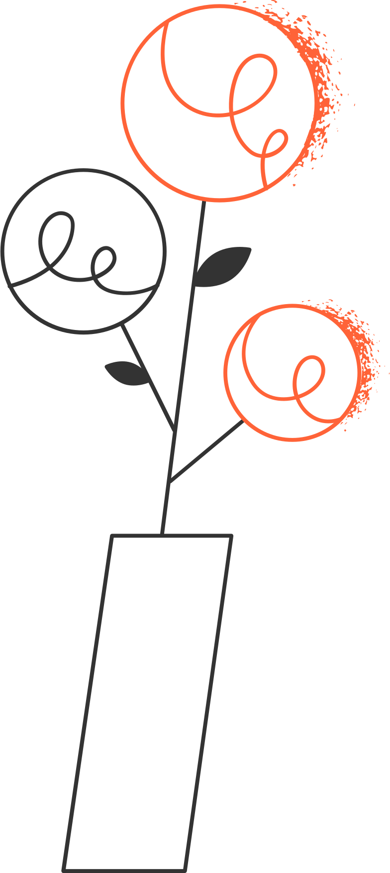 style flowers in the vase Vector images in PNG and SVG | Icons8 Illustrations