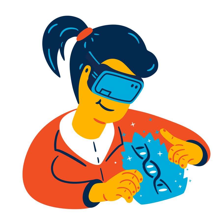 VR research Clipart illustration in PNG, SVG