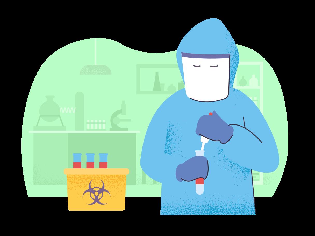 Virus test Clipart illustration in PNG, SVG