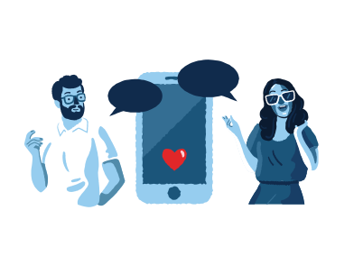 style Online dating images in PNG and SVG | Icons8 Illustrations