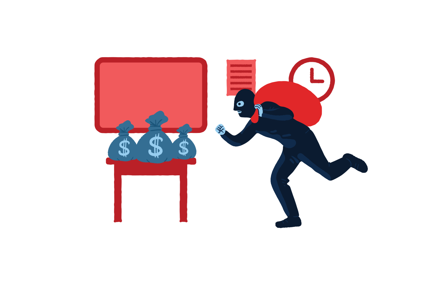 About to steal money  Clipart illustration in PNG, SVG