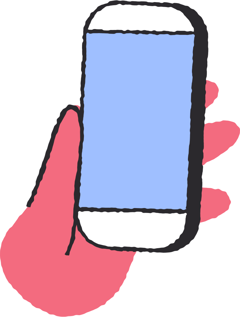 phone in hand Clipart illustration in PNG, SVG