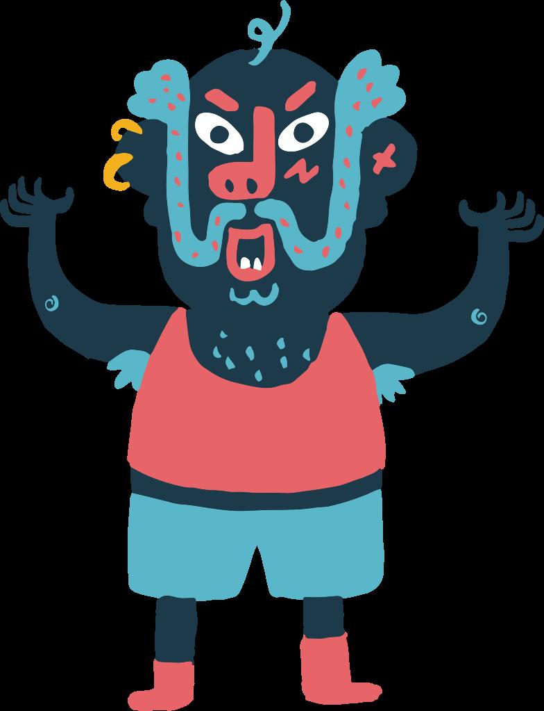 Ilustración de clipart de angry man en PNG, SVG