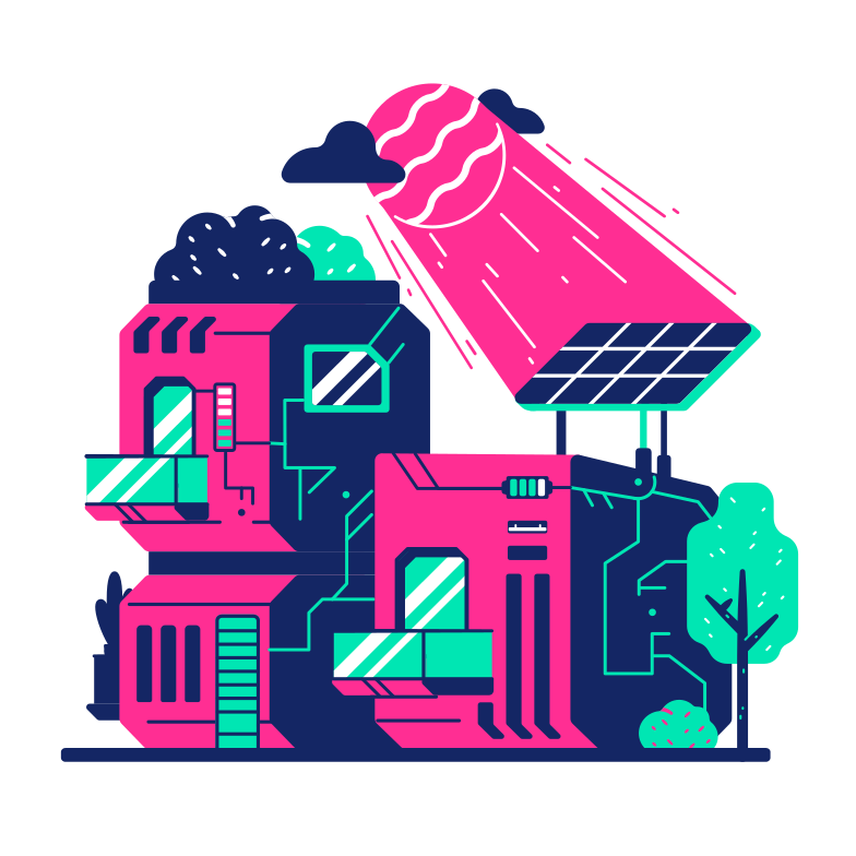 style Solar house Vector images in PNG and SVG | Icons8 Illustrations