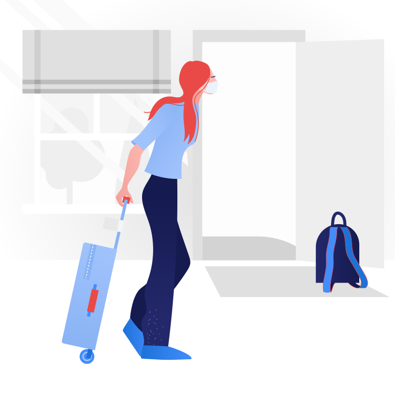 style  Woman going on a trip.  End of quarantine Vector images in PNG and SVG | Icons8 Illustrations