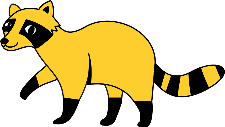 raccoon Clipart illustration in PNG, SVG