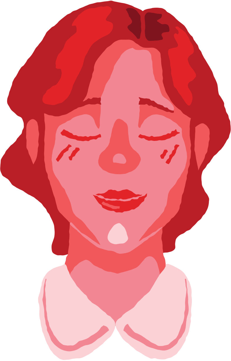 woman head peaceful Clipart illustration in PNG, SVG