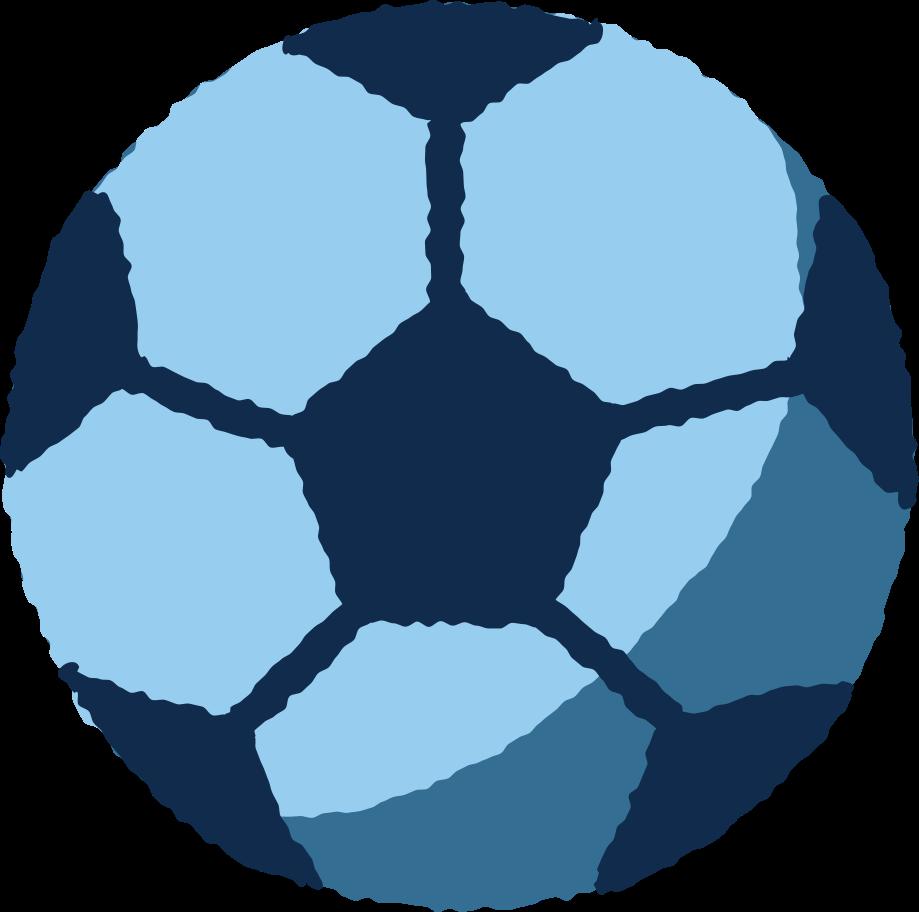 Ilustración de clipart de pelota de fútbol en PNG, SVG