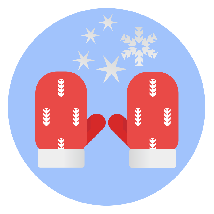 Christmas winter mittens Clipart illustration in PNG, SVG