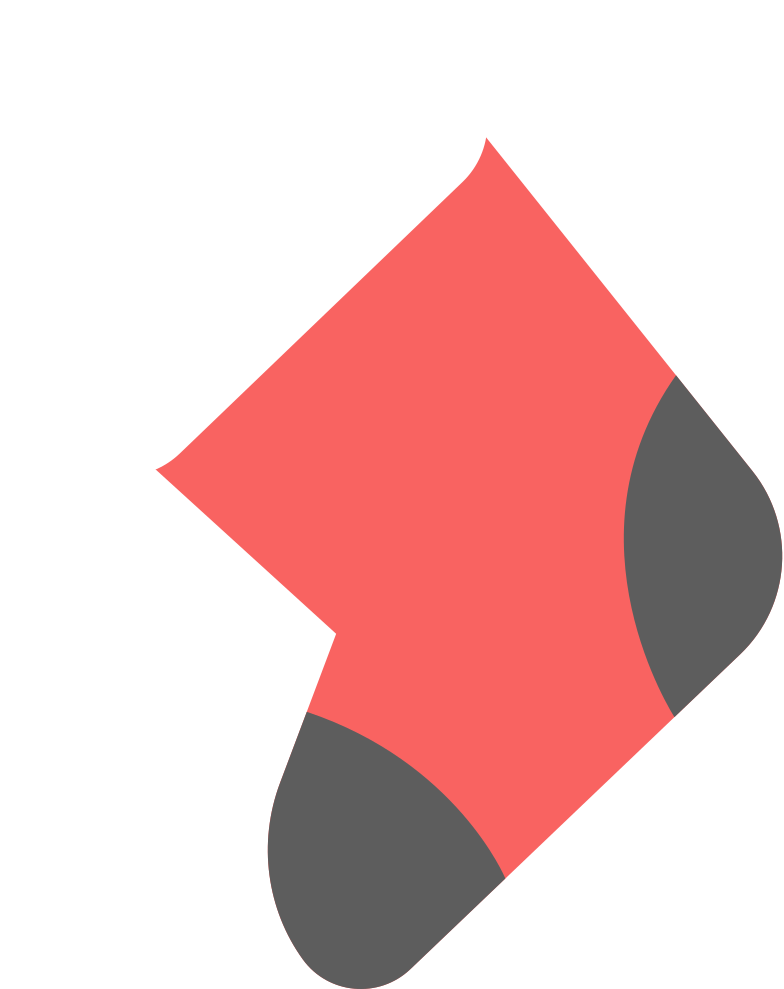 christmas sock with fur Clipart illustration in PNG, SVG