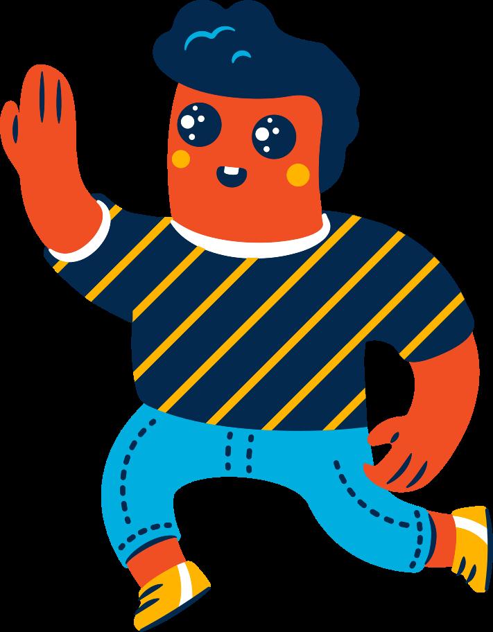 high-five man Clipart illustration in PNG, SVG