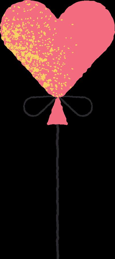 Ilustración de clipart de Globo corazon en PNG, SVG
