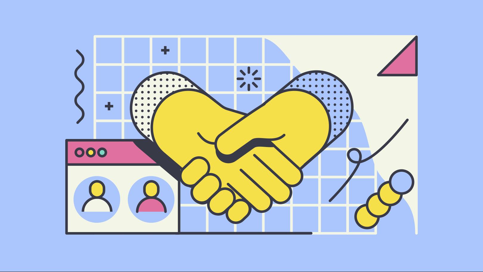Shaking hands Clipart illustration in PNG, SVG