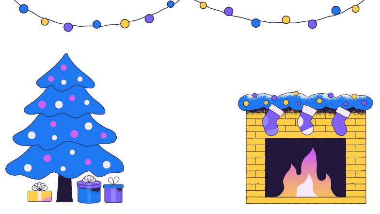 Christmas feeling Clipart illustration in PNG, SVG
