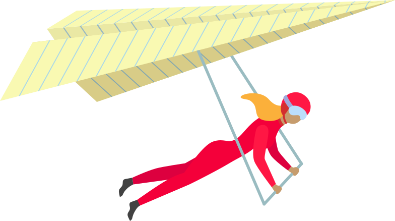 girl with paraglider Clipart illustration in PNG, SVG