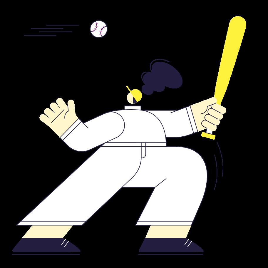 Kick, Serve! Clipart illustration in PNG, SVG