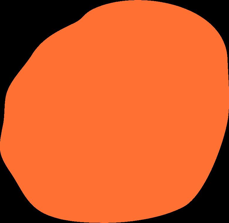 orange circle Clipart illustration in PNG, SVG