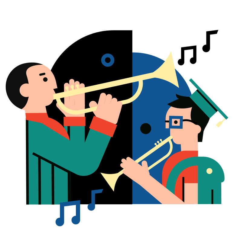 Music training Clipart illustration in PNG, SVG