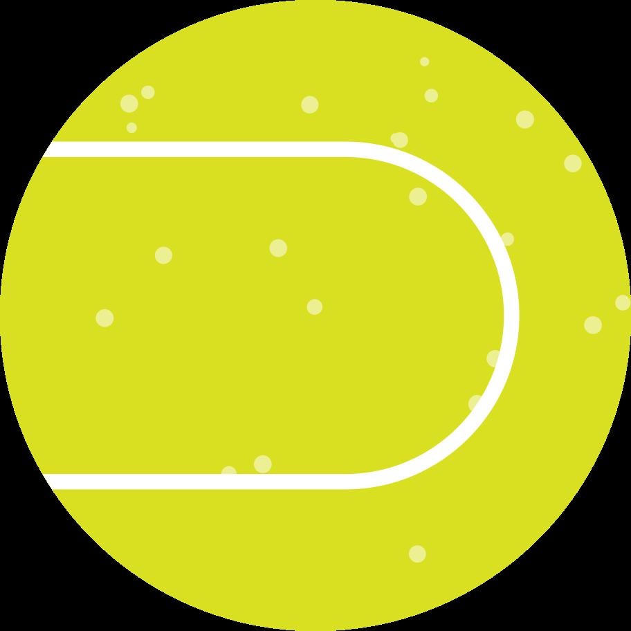 Ilustración de clipart de pelota de tenis verde en PNG, SVG