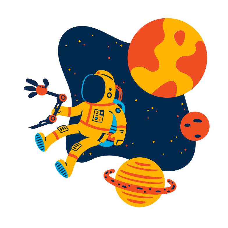 Space adventures Clipart illustration in PNG, SVG
