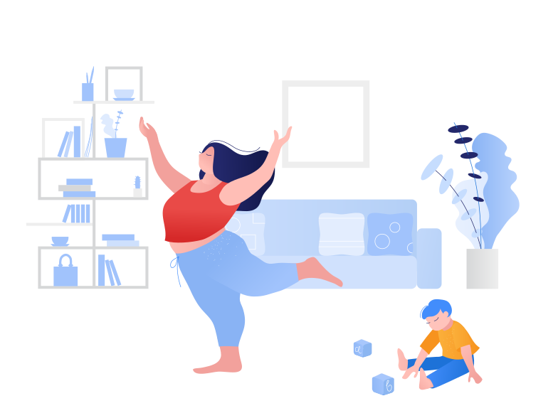 Weekend at home Clipart illustration in PNG, SVG
