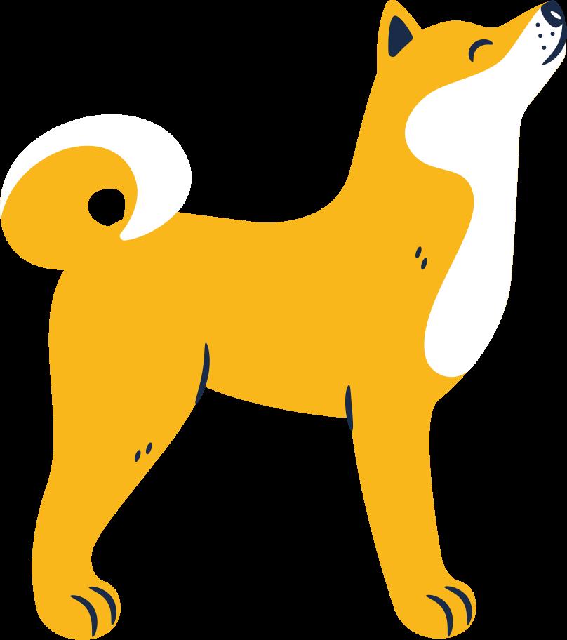 doge calm Clipart illustration in PNG, SVG