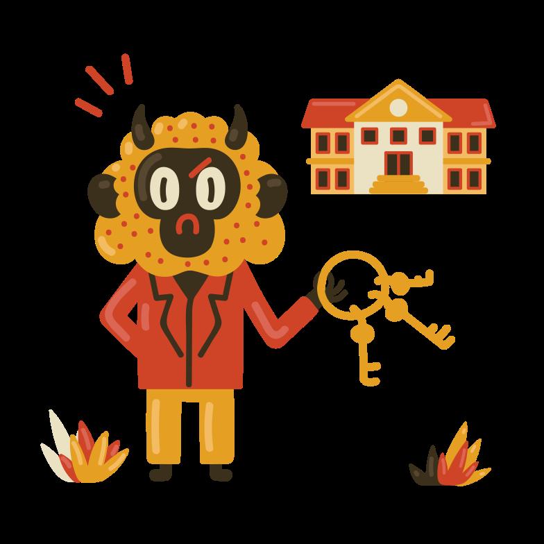 School caretaker Clipart illustration in PNG, SVG